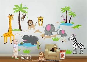 Safari Animals Wall Decal Jungle Animals Wall Decal Monkey