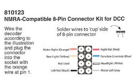 8 Pin Connector Wiring Diagram by Central Hobbies Soundtraxx Dcc Models Page