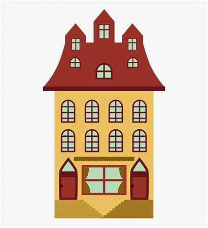Apartment Cartoon Building Clipart Animados Casa Apartamento