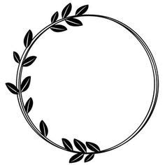 It's now the weekend before cut that design provides a large selection of free svg files for silhouette, cricut and other cutting machines. leaf messy circle monogram frame   Vinyl Crafts ...