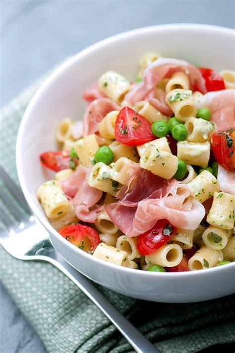 macaroni salad  creamy parm pesto dressing delallo