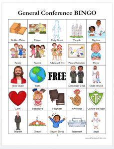 general conference bingo cards