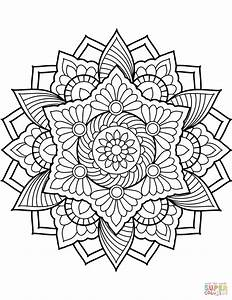Flower Mandala Coloring Page From Floral Mandalas Category