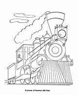 Train Coloring Steam Pages Trains Engine Locomotive Sheets History Railroad Diesel Activity Clrg Template sketch template
