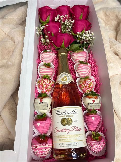 rose  wine box box  etsy strawberry gifts wine