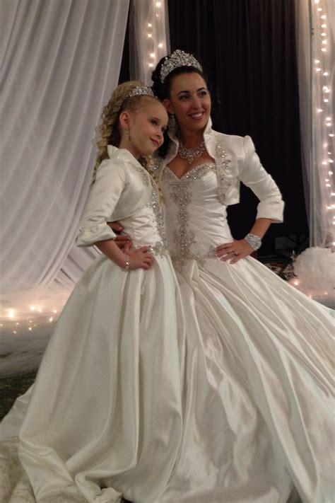 bride  matching flower girl dresses