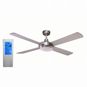 Rotor inch led ceiling fan brushed aluminum with w