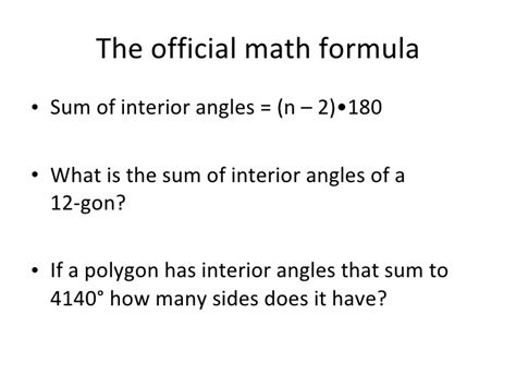 How Many Angles Are On The Interior Of An Octagon by 1 25 10 Interior And Exterior Angles