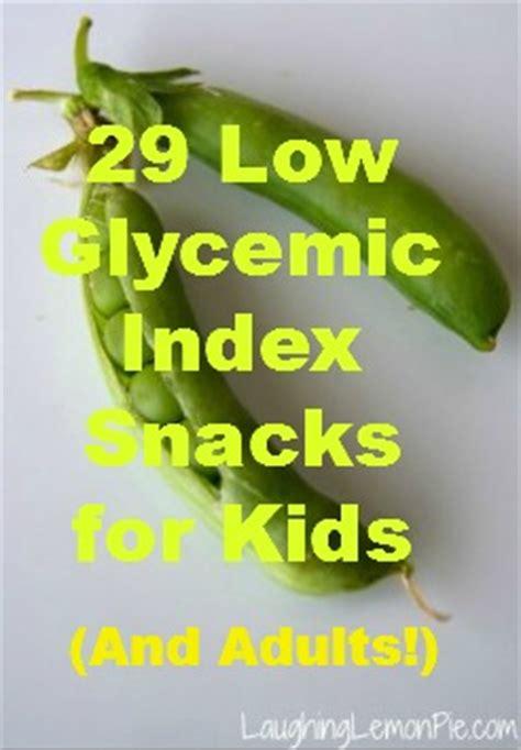 glycemic index snacks  kids  adults