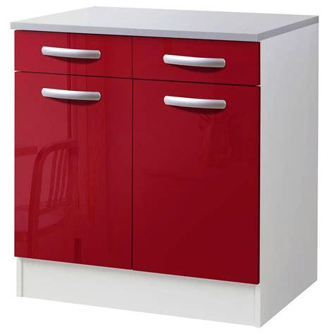but meuble de cuisine bas meuble de cuisine bas 2 portes 2 tiroirs brillant