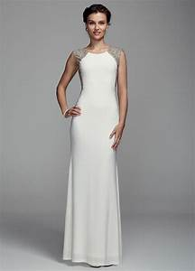 db studio long jersey sheath wedding dress with illusion With jersey wedding dress