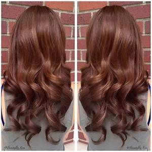 Warm chestnut brown hair color for my beautiful bride the for Hair color letters