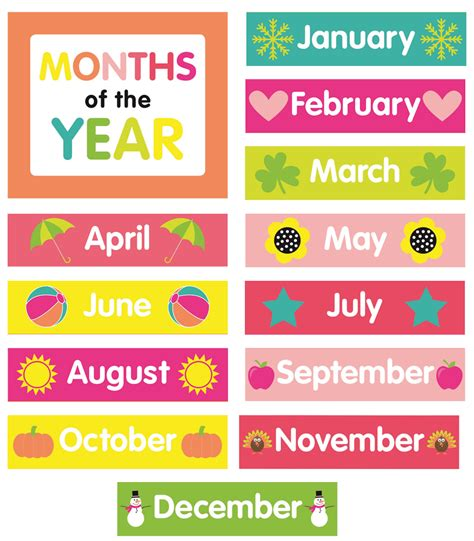 Months Printable | Template Business PSD, Excel, Word, PDF