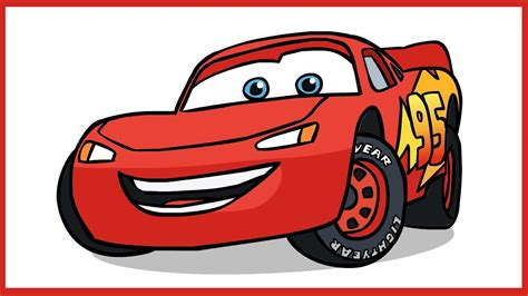 How To Draw Lightning Mcqueen. Cars Disney Pixar.