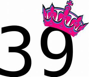 Pink Tilted Tiara And Number 39 Clip Art at Clker.com ...