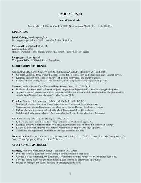 performa of resume prenatal cover letter industrial