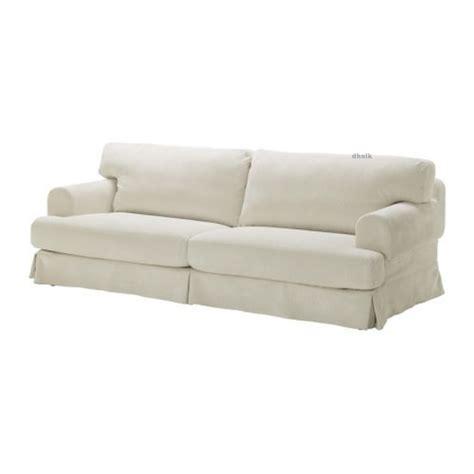 white slip covered sofa ikea hovås hovas sofa slipcover cover graddo beige off