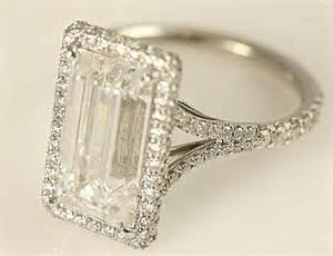 luxury wedding rings certified 5 carat emerald cut by beautifulpetra
