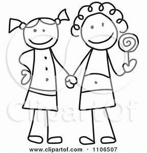 best friend stick figure tattoo | Clipart Black And White ...