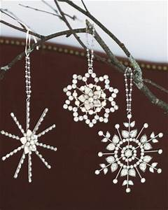 Beaded Star Ornaments Modern Christmas Ornaments by