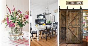 30 farmhouse decorating ideas trends in 2018 interior for Interior decorated house pictures