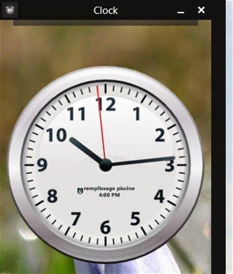 mettre une horloge sur le bureau infos technos informatique vidéos hifi photos