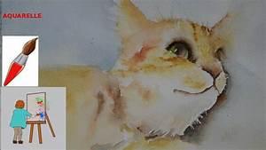 Peindre Au Pastel : peindre a l 39 aquarelle un chat youtube ~ Melissatoandfro.com Idées de Décoration