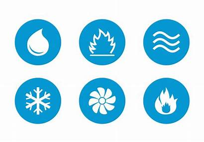 Hvac Icons Vector Svg Clipart Heating Air