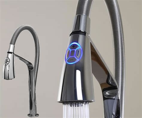 electronic kitchen faucets aquabrass unveils high tech i spray electronic kitchen faucet luxurylaunches