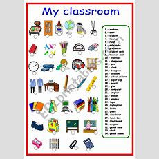 Classroom Objects And School Supplies  Esl Worksheet By