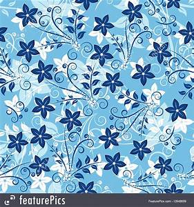 Abstract Patterns: Blue Floral Background - Stock ...