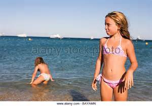 Young Little Girls On the Beach