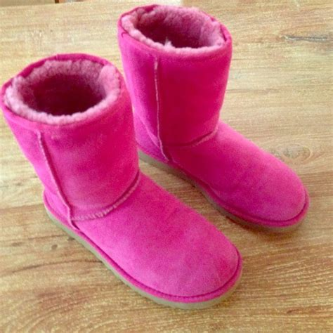 ugg boots hot pink genuine classic short ugg