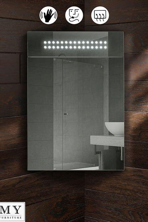 Mirror Corner Bathroom Cabinet by Panoramic Led Illuminated Bathroom Mirror Corner Cabinet