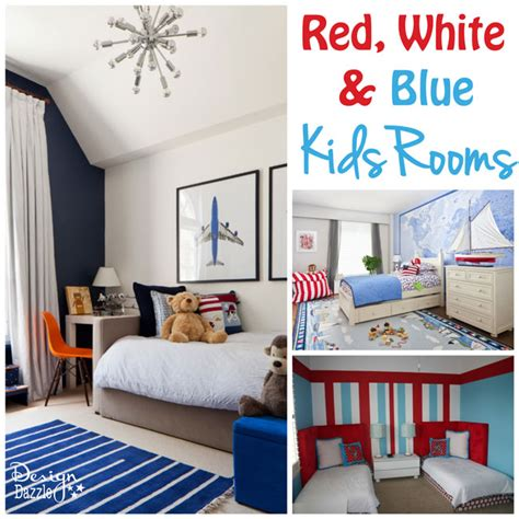 ideas  red white  blue kids rooms design dazzle