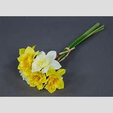 Narzissenbund 34cm Weißgelb Ad Kunstblumen Künstliche