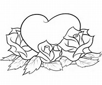 hd wallpapers easy rose coloring pages