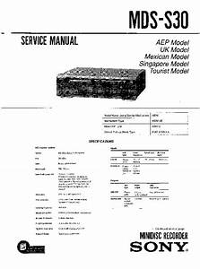 Sony Mds-s30 Service Manual