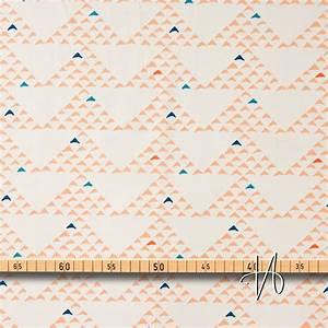 Blau Auf M Bau : baumwolle popeline dreiecke orange blau auf creme 0 1m ~ Frokenaadalensverden.com Haus und Dekorationen
