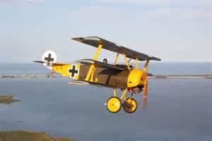WWI Aircraft Fokker Biplane