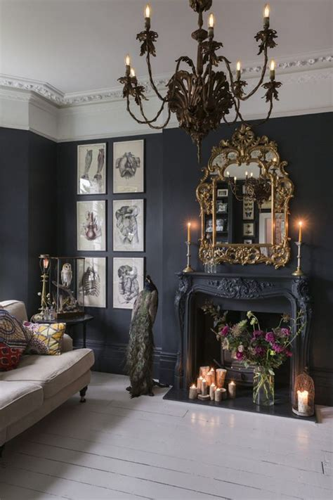 gorgeous living rooms  black walls digsdigs