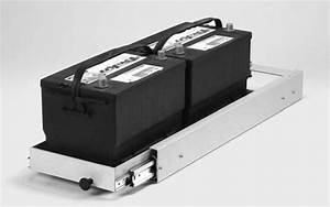 Narrow Sliding Tray For Storing 2 Batteries End To End