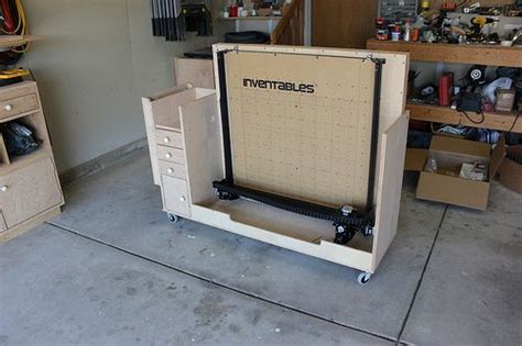 genius idea   folding mobile cart  xcarve cnc