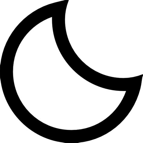 crescent moon icon in messages what does it macreports crescent moon phase outlined symbol of weather interface