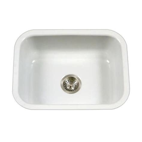 white enamel kitchen sink houzer porcela series undermount porcelain enamel steel 23 1293