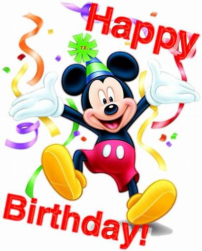 Mickey Mouse Birthday Happy Clipart Transparent Pinclipart