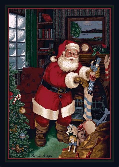 4x6 milliken santa s visit kris kringle stockings area rug