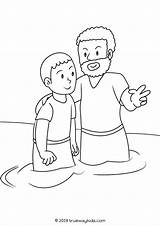Baptist John Coloring Pages Bible Craft Template sketch template