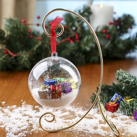 gold decorative metal ornament stand christmas ornaments