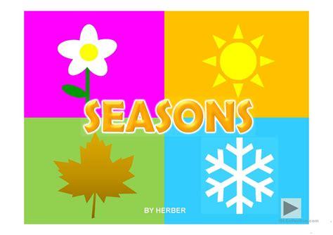 seasons  english esl powerpoints  distance